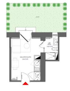 investissement T1 croix rousse lyon 4 avec jardin privatif